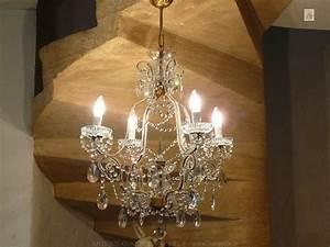 Lustre Pampilles Cristal : lustre a pampilles cristal ~ Teatrodelosmanantiales.com Idées de Décoration