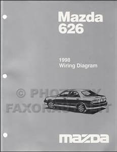 1998 Mazda 626 Wiring Diagram Manual Original