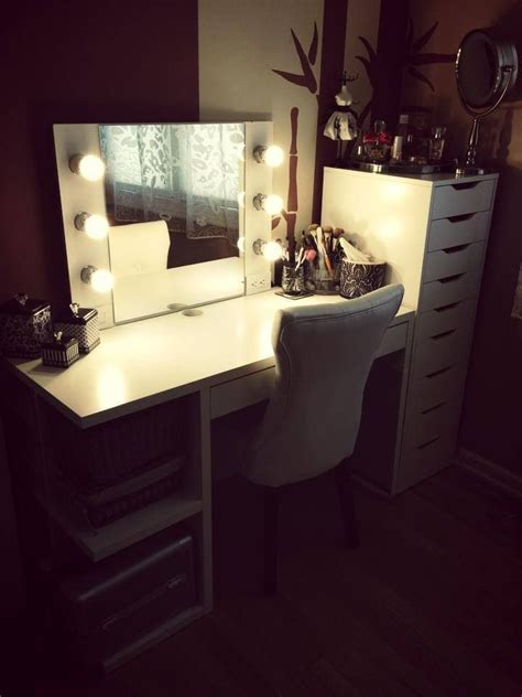 Vanity Desk With Lights Ikea by Ikea Alex And Mickey Desk Diy Makeup Vanity Cool Makeup