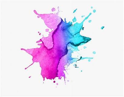 Watercolor Effect Drawing Purple Splash Dream Painting