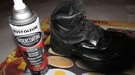 Coat Old Boots In Rust-oleum For A Cheap And Dirty