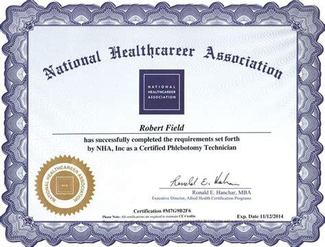 national phlebotomy certification diploma phlebotomy
