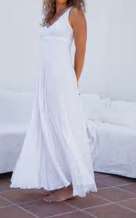 pure white maxi dress in crinkled linen