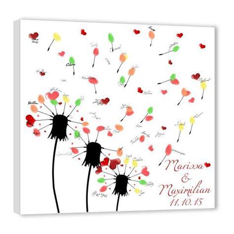 fingerabdruck baum hochzeit wuensche pusteblume kinder