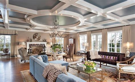 Modern Coffered Ceiling by Coffered Ceilings In 15 Contemporary Living Rooms Home