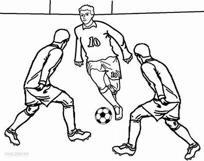Football Coloring Pages Player Colouring Soccer Printable