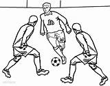 Football Coloring Pages Player Colouring Soccer Printable Sheets Sheet Sports Cool2bkids Players Playing Messi Subject Popular Favorite College sketch template