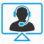 Icon Center Service Support Call Chat Monitor