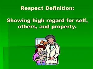 Character Educa... Respect Definition