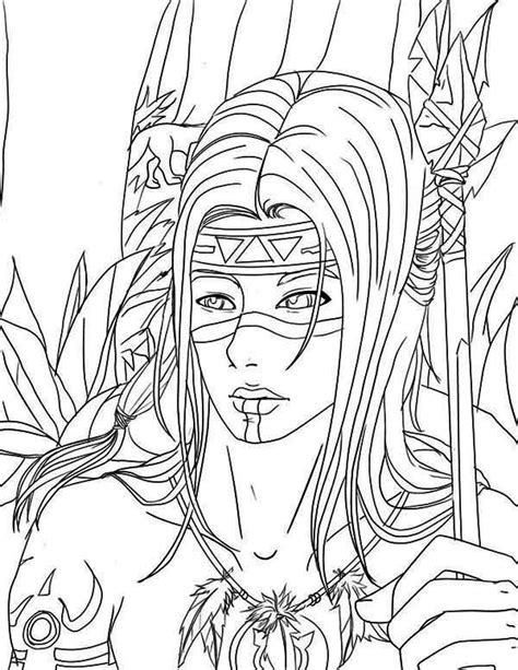 native american warrior coloring page kids play color
