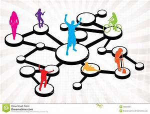 Social Media Connections Diagram Stock Photos