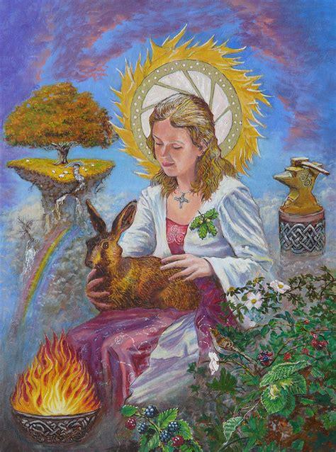 Brigid Goddess Celtic Goddess of Fire Painting by Tomas ...