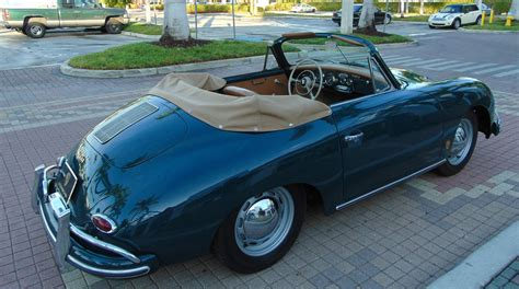 1959 Porsche 356 A Cabriolet. Fjord Green With Tan Leather