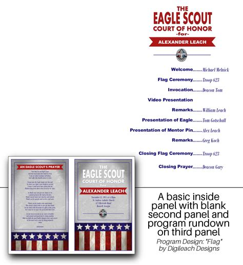 Eagle Scout Court Of Honor Program Template by Digileach Designs Customized Eagle Scout Digital Autos Post