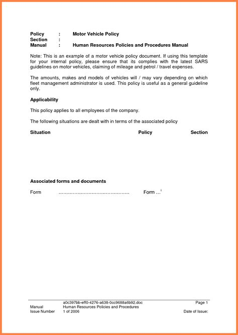 Company Theft Policy Template by 3 Company Car Policy Template Company Letterhead
