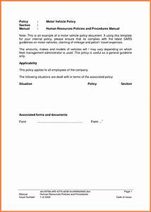Company Policies And Procedures Template 3 Company Car Policy Template Company Letterhead