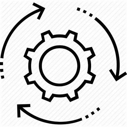 Icon Processing Process Management Icons Flat Cog