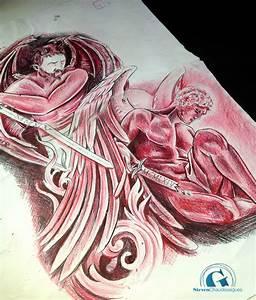 Ange Et Demon : tatouage dos complet par steven chaudesaigues graphicaderme tattoo ~ Medecine-chirurgie-esthetiques.com Avis de Voitures