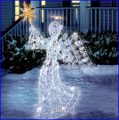 eye catching led angel  outdoor yard christmas art