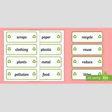 Qld * New * Recycling Word Cards