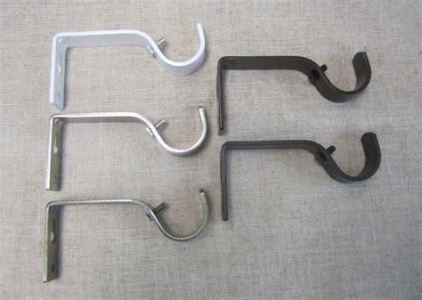 Drapery Rod Bracket by Urbanest Metal Curtain Drapery Rod Non Adjustable Brackets
