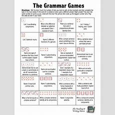 The Grammar Games! Dice Review Game For Common Core Grammar Standards  Students, Gaming And English