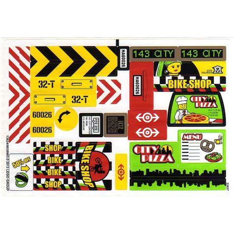 Lego Sticker Sheet For Set 60026 (13624)  Brick Owl
