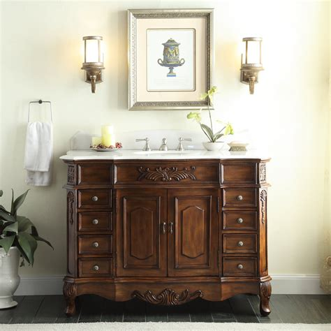 fashioned bathroom vanity adelina 48 inch old fashioned look bathroom vanity fully assembled white marble counter top