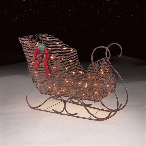 Weihnachtsdekoration Schlitten by Roebuck Co Grapevine Sleigh Outdoor Decor