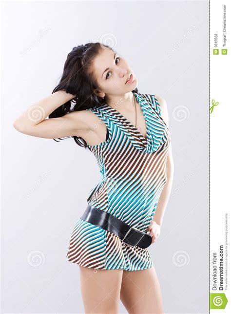 Beautiful Yong Woman In Short Dress Stock Photos   Image