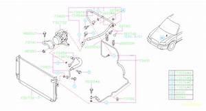 2006 Subaru Forester Hose Pressure Dischage  Hose Pd  Comp