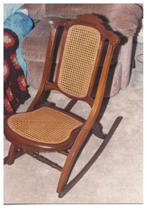 antique folding rocking chair antique collignon folding rocking chair usa made chair circa 1869 ebay