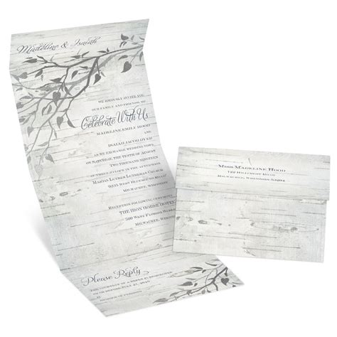 silver branches foil seal  send invitation