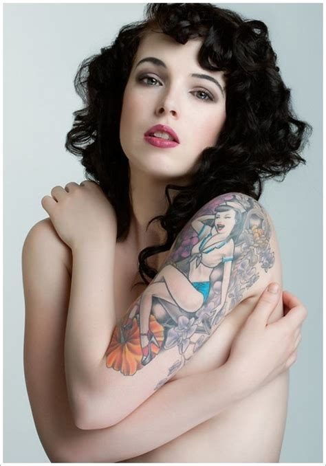 Naughty And Sexy Pin Up Girl Tattoos