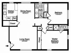 2 Bedroom House Plans Free Two Bedroom Floor Plans