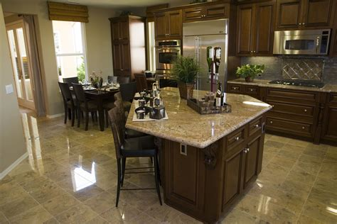 kitchen island for used polished porcelain tile for the kitchen floor decor 8173