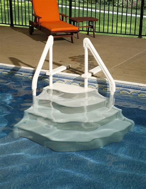 enchanting above ground pool deck ladders with grand