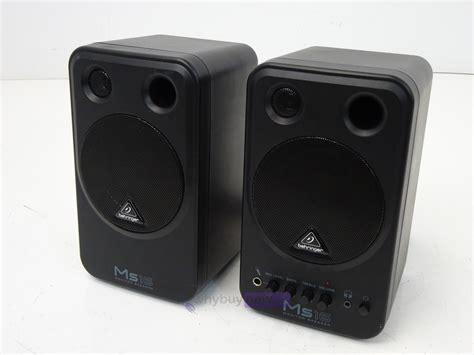 behringer ms16 monitor speakers whybuynew
