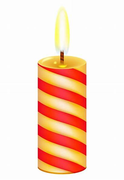 Candle Birthday Yellow Clipart Transparent Clip Library