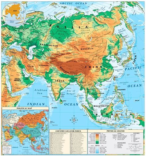 asia geographic map