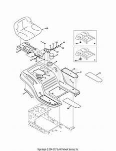 Troy Bilt 13wx78ks011 Bronco  2011  Parts Diagram For Seat  U0026 Fender