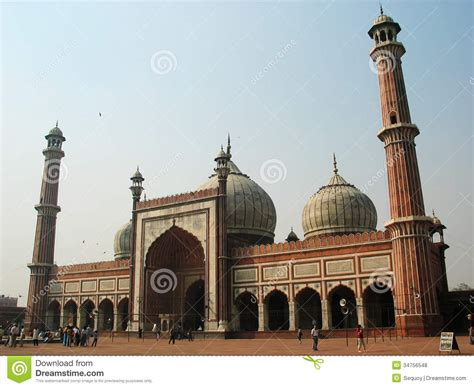 view  jama masjid  delhi royalty  stock