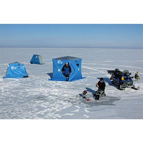 clam fish trap x2 thermal 2 angler ice shelter with deluxe