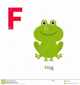 letter f frog zoo alphabet english abc with animals With frog alphabet letters