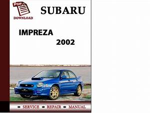 Subaru Impreza 2002 Workshop Service Repair Manual Pdf