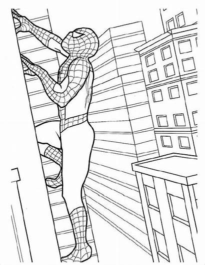 Coloring Spider Pages Action Template Pdf Spiderman