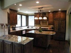 Dark Stained Oak Kitchen Cabinets temasistemi net
