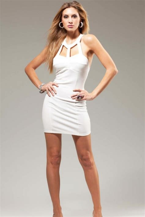 bandage one shoulder dress white cut out mini dress couture