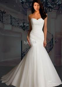 cheap wedding dresses discount strapless mermaid tulle With wholesale wedding dresses online