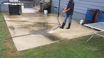 How To Clean Cement Porch by How To Pressure Wash A Concrete Patio